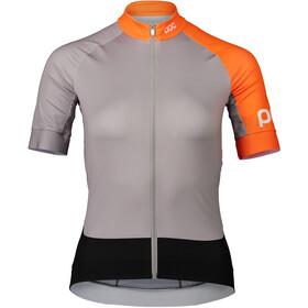 POC Essential Road Jersey Dames, granite grey/zink orange